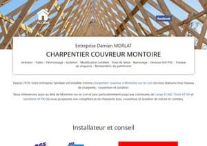 Site Internet du charpentier couvreur Morlat à Montoire